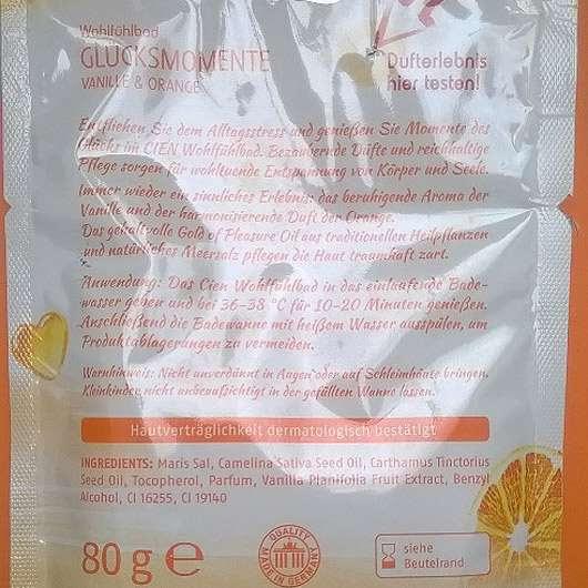 Cien Wohlfühlbad Glücksmomente Vanille & Orange