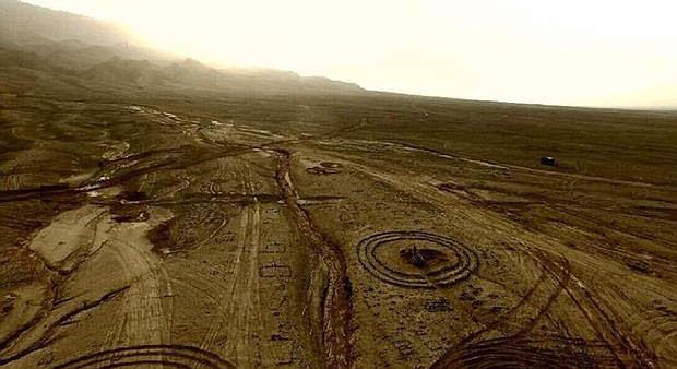 Existen más de 200 círculos de piedra en el Desierto de Gobi.