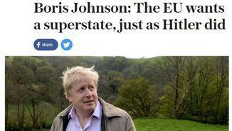 """L'entrevista amb les polèmiques declaracions de Boris Johnson al """"The Sunday Telegraph"""""""