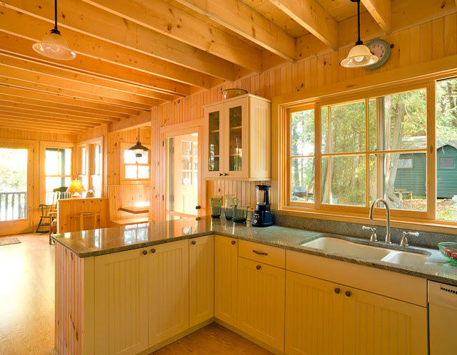 Adirondack Style Camp rustic-kitchen