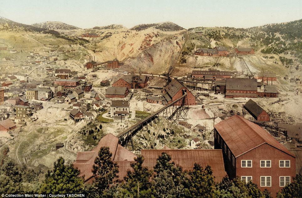 Homestake Mine, Dakota do Sul: Essas imagens particulares foram produzidos pela companhia fotográfica de Detroit, na virada do século