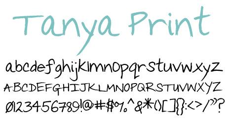 click to download Tanya Print