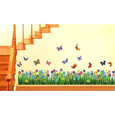 Wall Stickers Walking in the Garden Flower Border Design  701