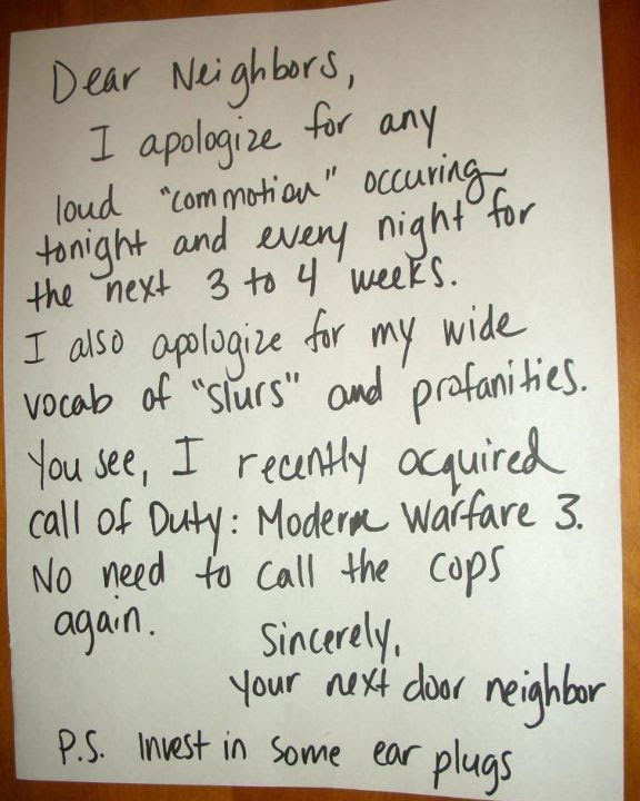 The 50 Funniest Neighbor Notes Ever Gallery