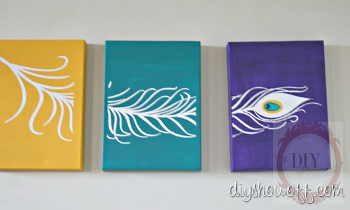 DIY Project Parade - Peacock Feather Triptych Canvases | DIY Show ...