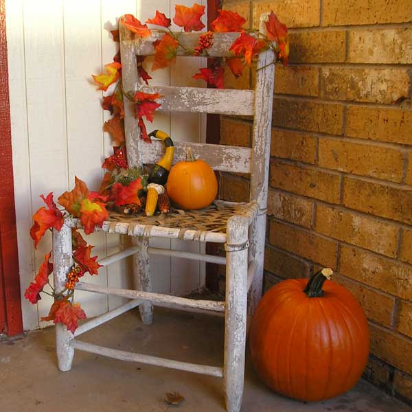 Fall Porch Decorating | Natural Interior Design