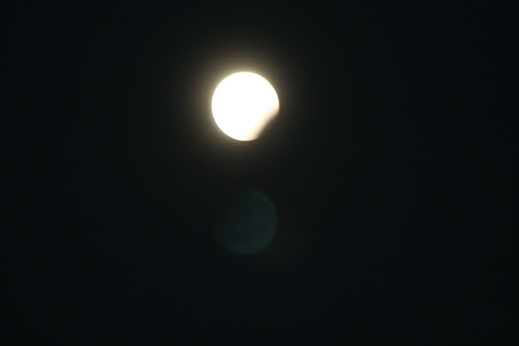 Change illustrated with partly eclipse of the moon
