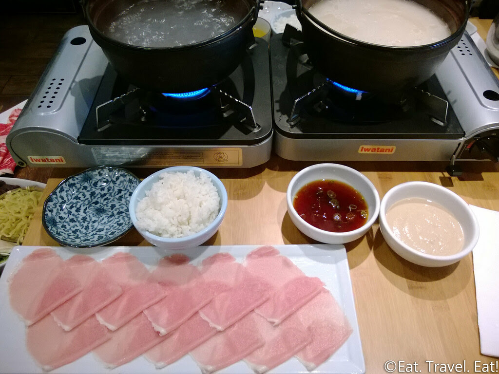 Osawa- Pasadena, CA: Shabu-Shabu Set-Up
