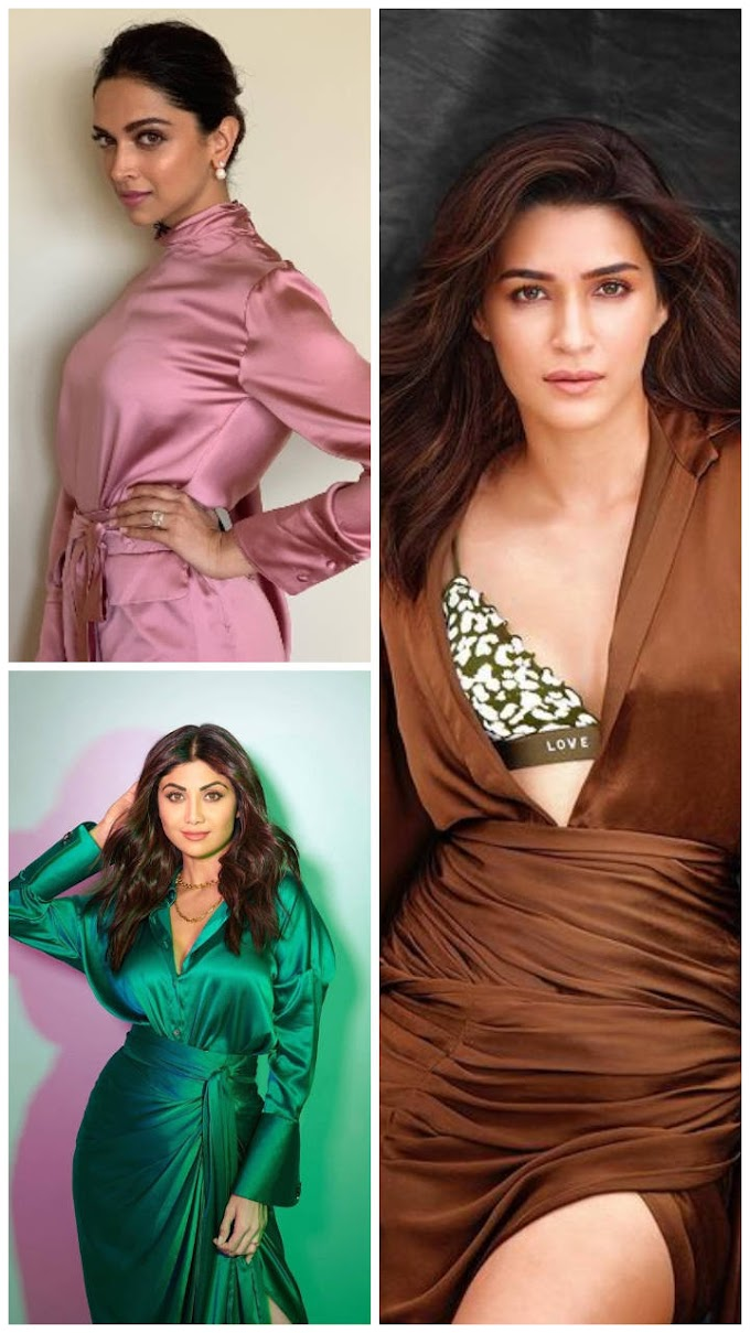Satin Dresses to steal from B'Town Divas