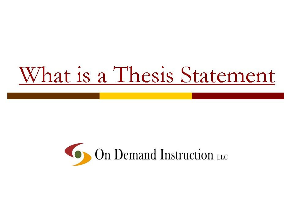 youtube how to write a killer thesis statement