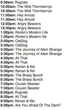 Cartoon Network Daily Schedule | Daily Planner