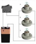 Se observa uno de los circuitos mas frecuentes en el tema de la electricidad