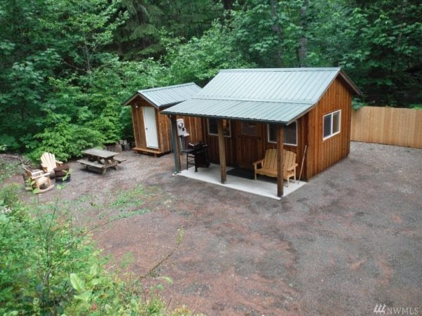 200 Sq Ft Tiny Cabin For Sale in Hoodsport Washington
