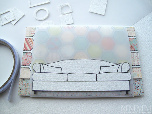 11) Adhere the couch to the sleeve (hides the seam)