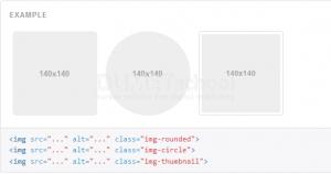 cara merubah bentuk lingkaran pada gambar dengan bootstrap