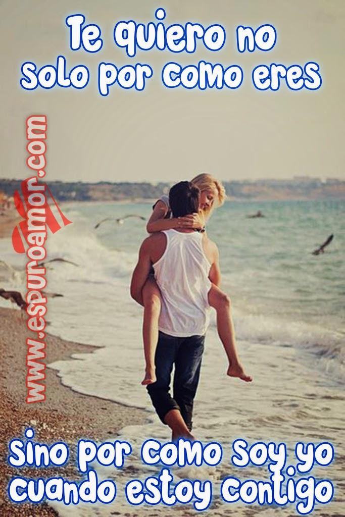 Bonita Imagen De Amor Con Pareja De Enamorados Y Con Frase De