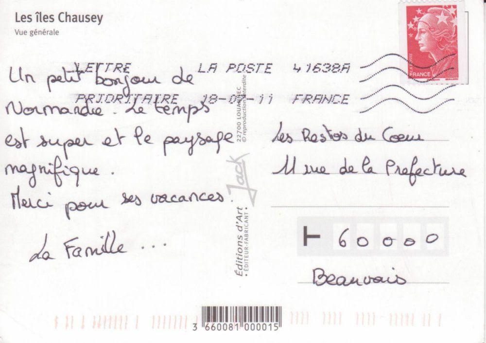 Exemple De Carte Postale De Vacances - Exemple de Groupes