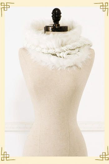 Francesca's Collections Snow Bunny Neckwarmer
