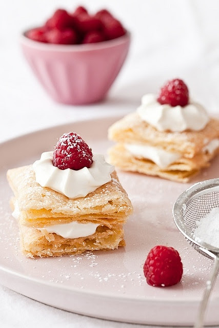 Gluten Free Mille Feuilles With Mascarpone Lemon Cream
