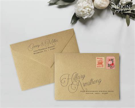 Wedding envelope addressing template Printable envelope   Etsy