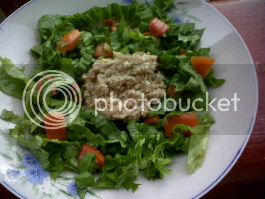 Sesame Tuna with Lettuce and Tomato Salad