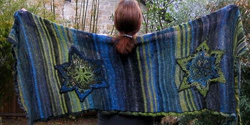 Edie shawl, full view