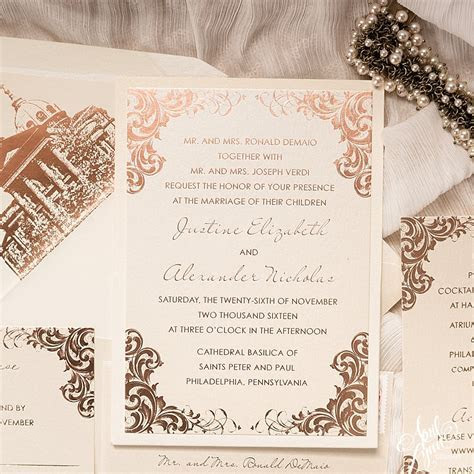 Justine   Alex's Luxurious Rose Gold Foil Wedding