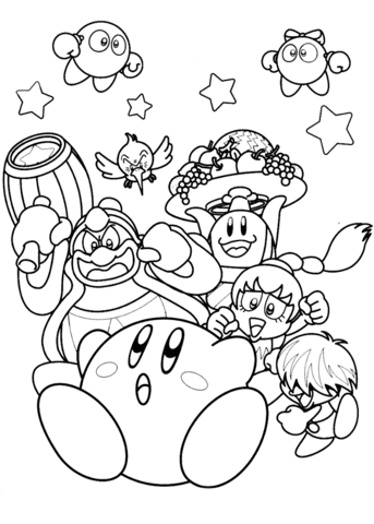 Coloring pages: kirby star allies coloring pages | 480x343