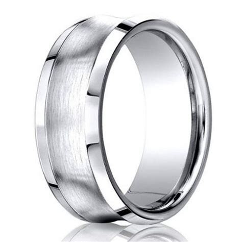 Designer Wedding Ring For Men in Cobalt Chrome, Concave, 7mm