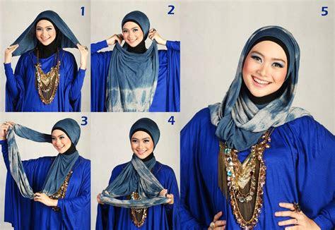 memakai hijab cantik tutorial hijab