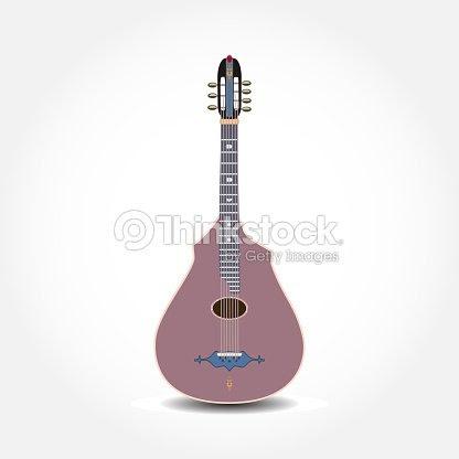 古典的なアコースティック ギターのベクトル イラスト ベクトルアート