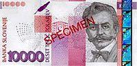 Bankovec za 10000 sit (2000) - sprednja stran