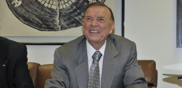 José Maria Marin, presidente da CBF, durante a sua primeira visita ao Congresso (21/03/2012)