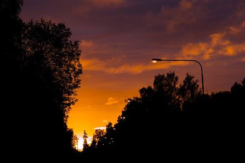 Solnedgång över Häradsvägen