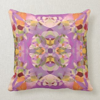 Butterfly Blossoms in Magenta Throw Pillows