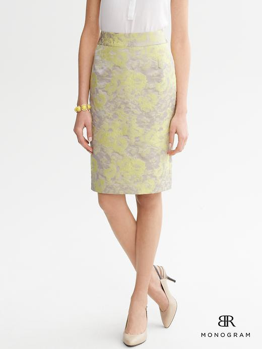 Spring Floral Fashion - Banana Republic Floral Jacquard Pencil Skirt