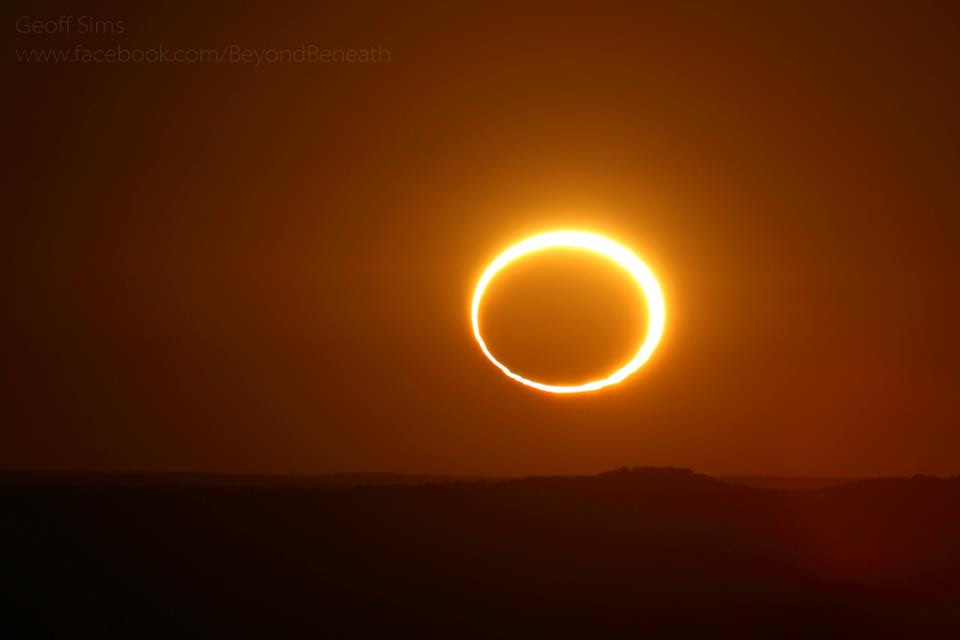 View larger    Annular solar eclipse - called a