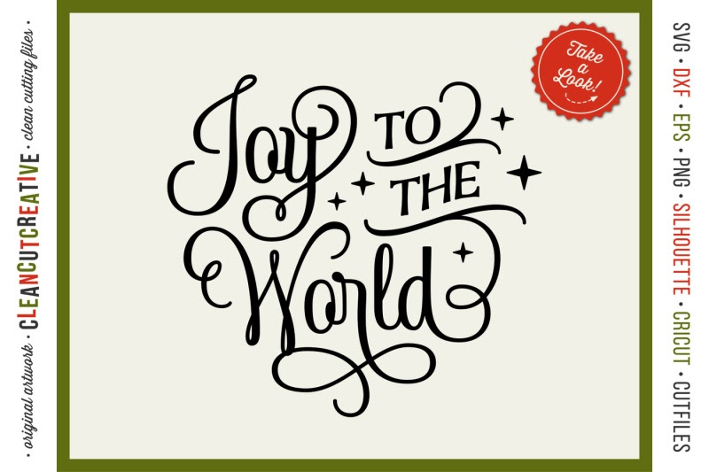 Download Free Joy To The World Elegant Christmas Svg Design For ...
