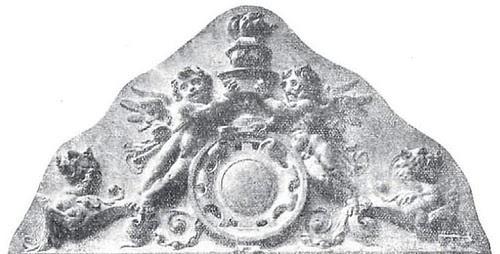 Detalle de la decoración del Hotel Castilla de Toledo en 1911