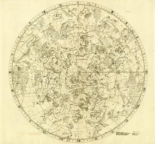 010-Hemisferio Boreal-Atlas Coelestis 1729- John Flamsteed-University of Michigan Shapiro Science Library