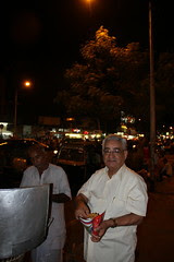Eruch Irani Eating Bhel Puri on Bandra Hill Road by firoze shakir photographerno1