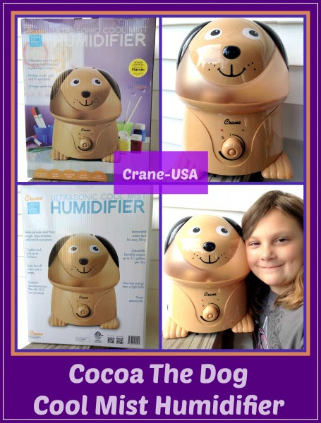 Enter the Cocoa the Dog - Crane USA Humidifier Giveaway, Ends 6/21.