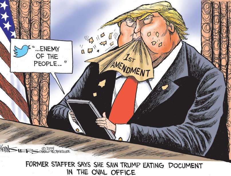 Trump dines on 1st amendment