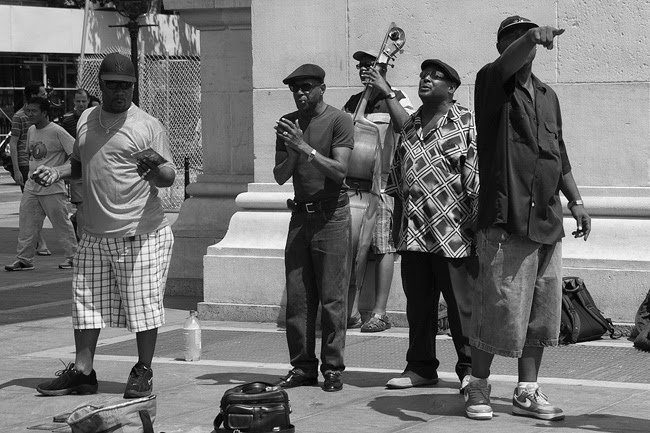 Singing in Washington Square Park