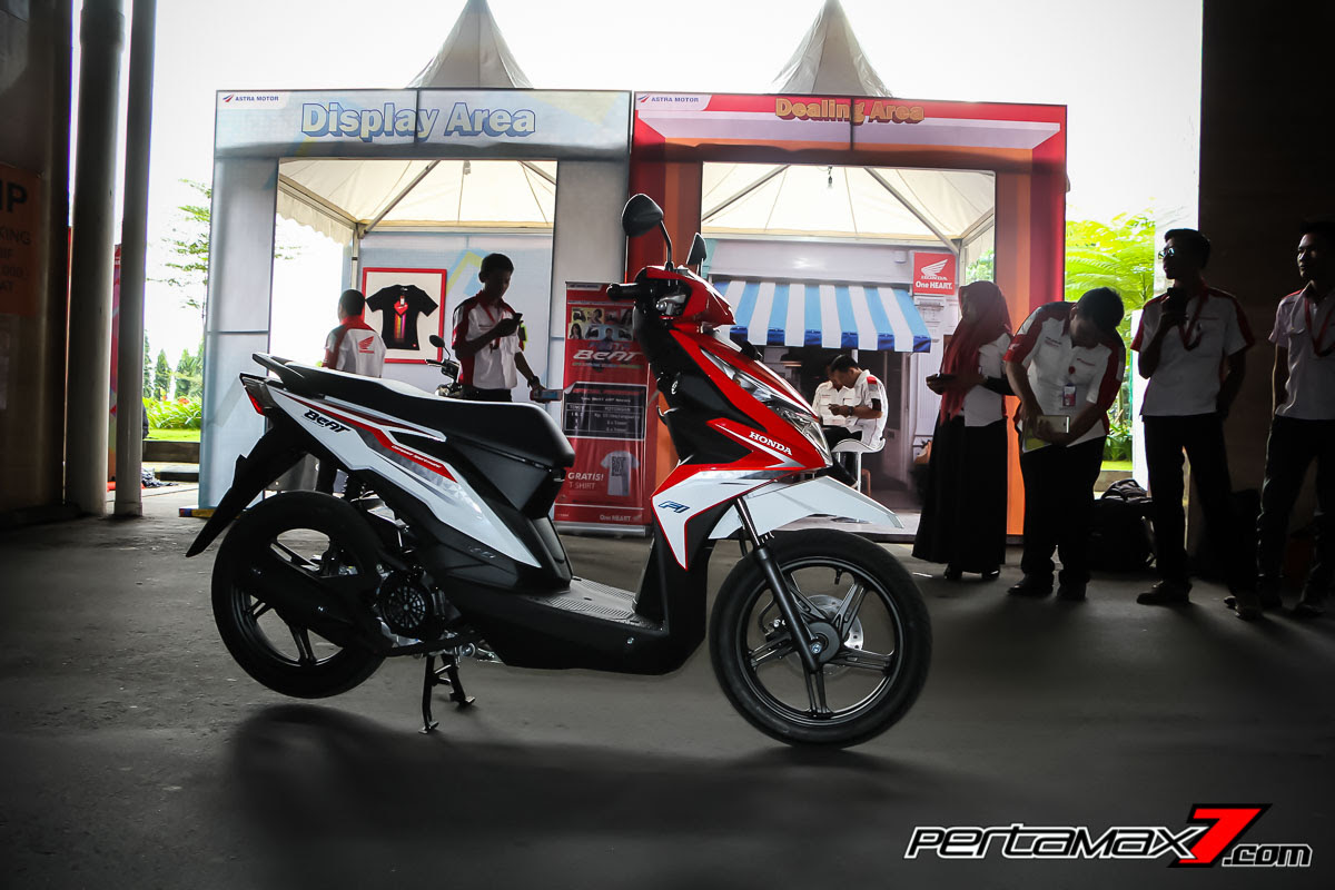 Modifikasi Ringan All New Honda BeAT ESP 2016 Merah Putih Cat Velg