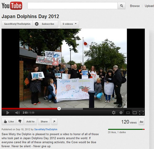 My protest snap on Japan Dolphins Day 2012 intl. video