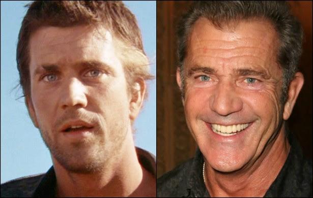 Quem aí se lembra de Mel Gibson na saga cinematográfica 'Mad Max', ao longo das décadas de 70 e 80? O ator completa 59 anos de idade em janeiro de 2015. (Foto: Reprodução e Getty Images)
