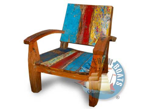 recycled boatwood furniture chair