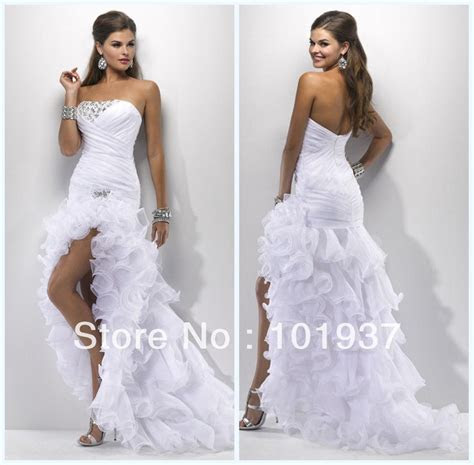 wedding dress short in the front long in the back   Google
