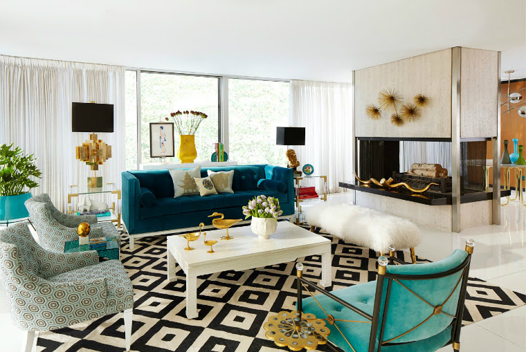 Contrast Living Room Accent Furniture Ideas